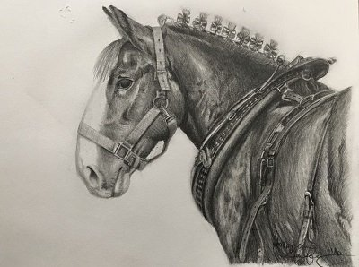 Break Time Pencil Drawing