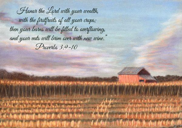 """Seasons of Faith Fall """"Blessed Barn"""" Proverbs 3:9-10"""