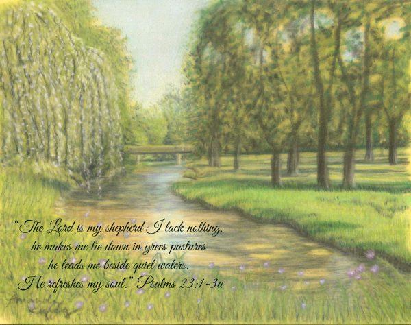 """Seasons of Faith Summer """"Creek at Creitz Park"""" Psalm 23:1-3a"""