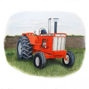"""Orange Power"" Allis Chalmers D21 Drawing"