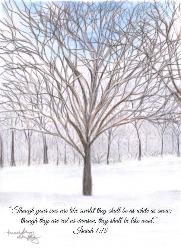 "Seasons of Faith Winter ""White as Snow"" Isaiah 1:18"